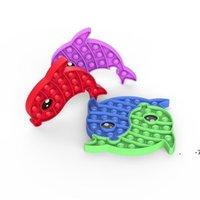 100 teile / dhl pop it zappeln spielzeug nagetier desktop doppelt farbe puzzles dekompression spielzeug kinder sensorisch push stress reliever fwe6107