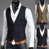 Men's Vests 2021 Dress For Men S-lim Fit Mens Suit Vest Male Waistcoat Gilet Homme Casual Sleeveless Formal Business Jacket
