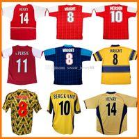 Henry Arsen Retro Soccer Jerseys 98 99 83 86 95 2002 2003 91 93 94 97 2000 2006 1995 UHMHF Classic Vintage Wright Fabregas Ljungberg Vieira Bergkamp Camisetas de fútbol Kit