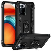 Armor Hard Cases For Xiaomi Mix 4 Redmi 10 Prime Note 10T K40 Gaming Case Soft Holder Hybrid Silicon Protection Stand Poco M3 Pro F3 X3 GT Cover
