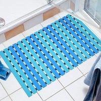 Alfombrillas de baño alfombra de ducha antideslizante con ventosa de succión de drenaje rápido baño cocina marrón plástico punto de plástico masaje