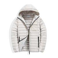 Topstoney Mens Jackets Cortavientos Ward Capucha Casual Fashion Chaqueta de invierno Chaqueta abajo Chaqueta con capucha delgada