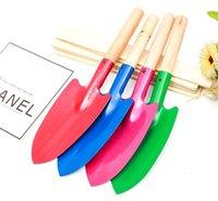 Домохозяйственные садовые растения с деревянной ручкой Железный шпатель Садовничая горшечные гаджеты пляж DHF6708