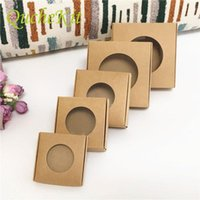 Gift Wrap 50pcs Kraft Paper Box With Window Wedding Christmas Candy Handmade Soap Jewelry Packing Display Boxes Party Supply
