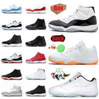 Nlke Air Jordon Retro 2021 Gift With Box Jumpman 11 25th Mens Womens Basketball Shoes 11s High Concord 45 Gamma Blue White Off Cap and Gown Space Jam Low Citrus Sneakers Trainers