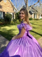 Sweet Ball Gown Quinceanera Dresses Off Shoulder Pleats Ruched Big Bow Girls Formal Prom Party Gowns for Sweet 16