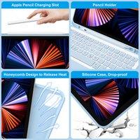 Per iPad Pro 12.9 Caso 2021 2020 2018 per iPad Pro 12 9 Caso 2021 Funda con tastiera Bluetooth e mouse per Apple