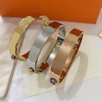 21SS Mode Designer Armband Männer und Frauen Edelstahl Luxusmarke Schmuck