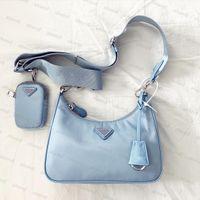 2020 venta 3 pieza conjunto bolsas mujer diseñador de lujo cruz cuerpo genuino nylon bolsos bolsos monederos lady tote bolsas de hombro monedero monedero tres artículo
