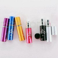 5ml Perfume Bottle Portable Mini Aluminum Refillable Bottles Spray Empty Makeup Containers With Atomizer For Traveler Party Favor RRA4452