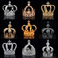 Clip per capelli Barrettes Royal Queen King Tiades Crown Men Round Diadem Diadem Bridal and Crowns Headdress Prom gioielli da sposa gioielli da sposa ornamento maschio