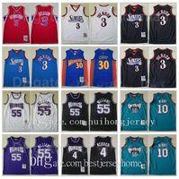 Thopfback Mitchell Ness Basketball Jason Williams 55 Allen Iverson Jersey 3 Chris Webber 4 Michael Mike Bibby 10 Stephen Curry 30 Jersey Top