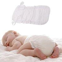 Inserciones lavables reutilizables Impulsores de los forros para la cubierta del pañal del bebé A prueba de agua Organic Bamboo de algodón envolver insertar pañales de tela
