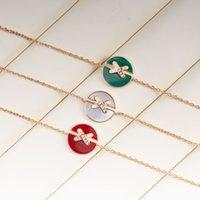 New niche fashion Meihuan X-shaped cross edge Bracelet round red chalcedony white Fritillaria Malachite gift