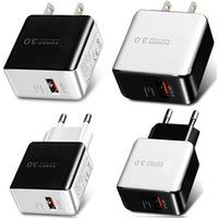 5V 3A QC3.0 Quick EU US AC home Travel Wall charger Power Adapter For Samsung S8 S9 S10 Tablet PC Mp3