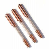 Ballpoint Pens Rose Gold Pens, Bola de roller de tinta de gel Fine Point Office Black Suministros de oficina con 3 recargas adicionales - Paquete (GE