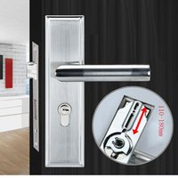 Handles & Pulls Adjustable Stainess Steel Door Handle Lock Set Home Security With Keys Solid Square Tongue Interior