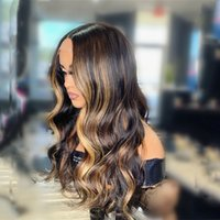 Ombre Hair Highlight Wig 13X4 Lace Front Human Hair Wigs For Women 4 27 Brazilian Body Wave 4x4 Lace Closure Wigs