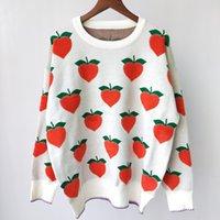 Shipping Free 2021 Autumn White Peach Print Autumn Women's Pullovers Brand Same Style Women's Sweaters DH02501