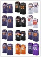 Hombres para mujer Jóvenes 55 E'twaun Moore 11 Abdel Nader 34 Charles Barkley 13 Steve Nash Custom Black Blanco Blanco Púrpura Basketball Jerseys