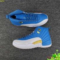 Scarpe da uomo da pallacanestro uomo scarpe da uomo 12 blu bianco XII 12s in esecuzione per uomo scarpe da ginnastica economiche sport tennis con scatola