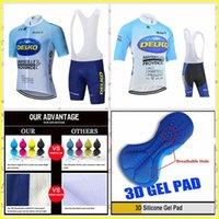 Delko Takım Yaz Kısa Kollu Bisiklet Jersey Önlüğü Şort Setleri Dağ Bisikleti Giysileri Nefes Açık Sportwear 417032