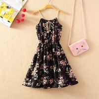 Casual Dresses Summer Bohemian Women Dress Floral Print Strap Mini Sundress Fashion Sexy Short Slip Elastic Waist Sleeveless 72P5