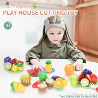 Children Pretend Role Play House Toy Colorful Cutting Fruit Plastic Vegetables Food Kitchen Baby Kids Educational Magnetic Toys