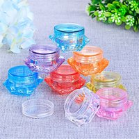 Plastic Wax Container Round and Square Shape 3g 5g Make Up Eye Cream Containers Box Colorful Clear Makeup Case Dab Dabber Jar Multi-use DHL
