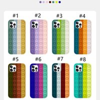 POP FIDGET RELIVER 스트레스 장난감 무지개 전화 케이스 아이폰 6 7 8 플러스 12 11 PRO XS XR MAX Antistress Cover MQ50