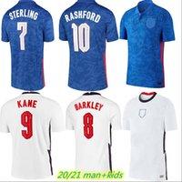 2021 Kane Futebol Jerseys Dele Rashford Vardy Lingard 20 21 Home Away Sturling Sturridge Jersey Men + Kit Kit Camisa de Futebol