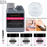 Crystal Powder Nail Kits Acrylic Set 120ml Liquid For Manicure Extension Builder 3D Carving Tools CH1573-1 Art1