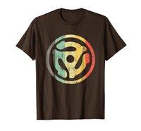 레트로 비닐 레코드 45 rpm 스핀들 어댑터 티셔츠