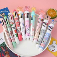 Creative Modeling Multi Color Ball Point Pen Girl Cute Department Press the Hand Account Students Learn Stationery