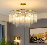 Living room chandelier post modern minimalist atmosphere room bedroom light  designer crystal glass chandelier