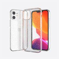 Bling Glitter Sparkle Clear Hybride PC TPU TPU Twinkle Coque Téléphone pour iPhone 12 Mini 11 Pro Max XR XS X 7 8 SE2020