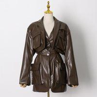 Sondr Vintage Minimalist Blazer для женщин, зарезанный с длинным рукавом на длинный рукав.
