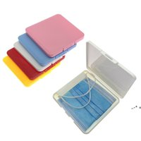 Portable Dustproof Face Shield Mask Storage Box Moisture-Proof Disposable Face Nose Cover Organizer Holder Mask Storage Case NHB9596