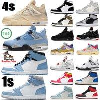 chaussure de basket-ball des chaussures 4 4s 1 1S Mocha Fire Feu Rouge Sports Femmes Sneakers Entraîneurs