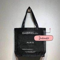 38x36x9.5cm Smart c Vintage Cosmetic Mesh Bag Wash Makeup Case Lady Mode Shopping Tote Briefe für 2C Reisetaschen