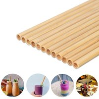 Natural 100% Bamboo Drinking Straws Eco-Friendly Sustainable Bamboo Straw Reusable Drinks Straw for Party Kitchen s