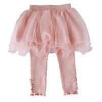 Flickor Leggings Lace Baby Kjolar Byxor Barn Tights Toddler Kläder Infant Kläder Vår Höst Bomull Nyfödda Byxor Använd 0-3t Princess B8653