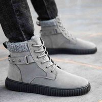 Winter New Boots Mens Comfortable Warm Desert Boots Fashion Tactical Ankle Strap Mens Snow G3 V9G3#