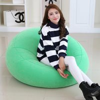 Arrival Flocking PVC Inflatable Lazy Sofa Seat Lounge Air Chair Indoor Outdoor Portable Leisure Creative Single Person Sleeping Bags