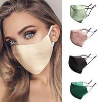 9 Renkler Ipek Maskeleri Moda Kadınlar Yüz Maskesi Güneş Kremi Nefes 2-Layer Silkler Yeniden Kullanılabilir ve Yıkanabilir