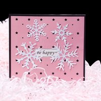 Noel kar tanesi metal kesme ölür şablonlar diy dekoratif kabartma kağıt kartlar
