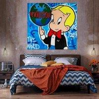 The World Yours Home Decor Enorme pittura ad olio su tela Handcrafts / HD Print Wall Art Immagini La personalizzazione è accettabile 21051021