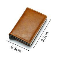 New arrival Aluminum Metal Credit Business Mini Card Wallet 2020 Dropshipping Man Women Smart Wallet Business Cardholder Male Rf