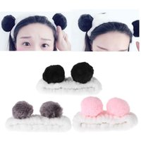 Cute Panda Ear Headband Women Hair Band Wash Shower Make Up Face SPA Hairband Wrap Elastic On Head Caps