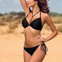 Womens Swimming Suit Padded Push-up Bra Bikini Set Swimsuit Bathing Swimwear Beachwear Women Bikini#30 Women's